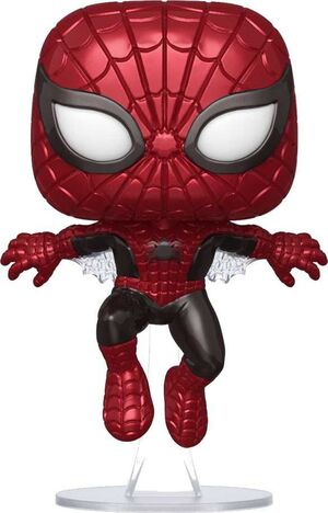 MARVEL 80TH FIG 9CM POP SPIDERMAN PRIMER ASPECTO (METALIC) ED. ESPECIAL