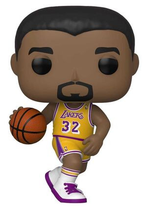 NBA LEGENDS FIG 9CM POP MAGIC JOHNSON (LAKERS HOME)