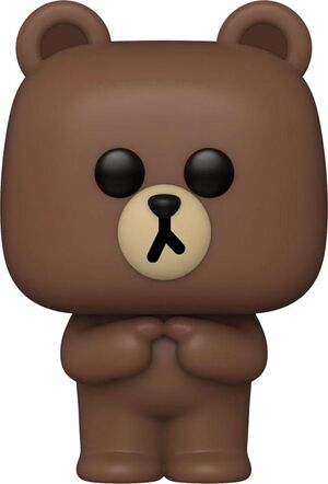 LINE FRIENDS FIGURA POP! ANIMATION VINYL BROWN 9 CM