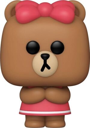 LINE FRIENDS FIGURA POP! ANIMATION VINYL CHOCO 9 CM