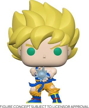 DRAGON BALL Z FIGURA POP! ANIMATION VINYL SS GOKU W/ KAMEHAMEHA WAVE 9 CM