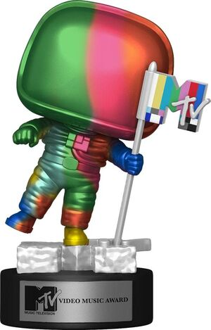 MTV FIGURA POP! AD ICONS VINYL MOON PERSON (RAINBOW) 9 CM