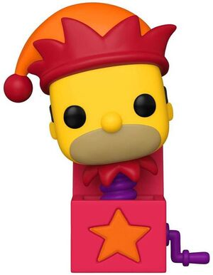 SIMPSON FIG 9CM POP HOMER JACK-IN-THE-BOX