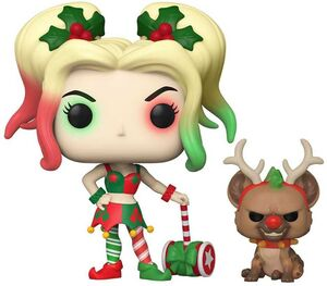 DC HOLIDAY FIG 9CM POP HARLEY QUINN WITH HELPER