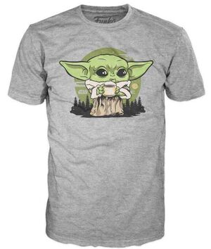 STAR WARS THE MANDALORIAN CAMISETA POP THE CHILD CALDO DE HUESOS L