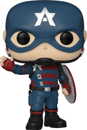 FALCON Y EL SOLDADO DE INVIERNO POP! MARVEL VINYL FIGURA CAPITAN AMERICA FLYING 9 CM