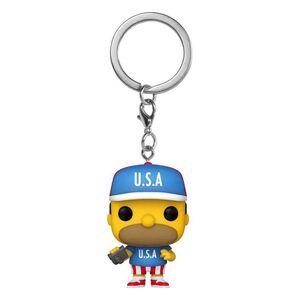 LOS SIMPSON LLAVERO POCKET POP 4CM USA HOMMER