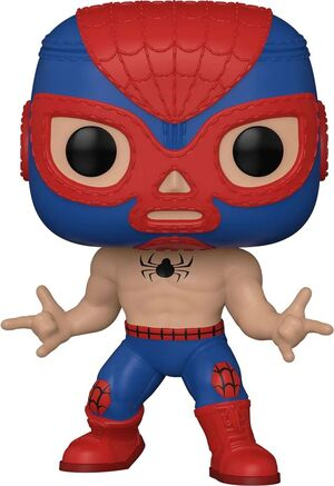 MARVEL LUCHA LIBRE FIGURA POP! VINYL SPIDERMAN 9 CM