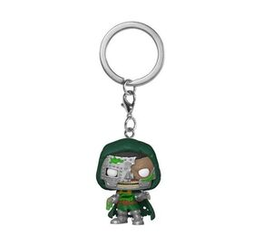MARVEL ZOMBIES LLAVERO POCKET POP! VINYL ZOMBIE DR. DOOM 4 CM