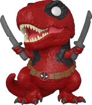DEADPOOL 30TH ANNIVERSARY FIGURA POP! VINYL DINOPOOL 9 CM