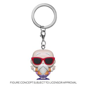DRAGON BALL Z LLAVERO POCKET POP! VINYL MASTER ROSHI (PEACE SIGN) 4 CM