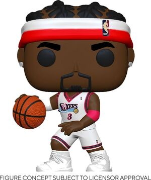 NBA LEGENDS POP! SPORTS VINYL FIGURA ALLEN IVERSON (SIXERS HOME) 9 CM