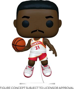 NBA LEGENDS POP! SPORTS VINYL FIGURA DOMINIQUE WILKINS (HAWKS HOME) 9 CM