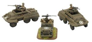TANK DESTROYER SECURITY SECTION (2X M20 UTILITY CARS + JEEP)
