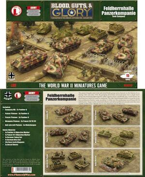 FOW BLOOD, GUTS & GLORY: FHH PANZERKOMPANIE