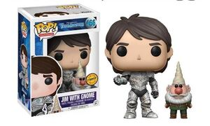 TROLLHUNTERS FIGURA 9 CM JIM WITH GNOME VINYL POP CHASE EDITION