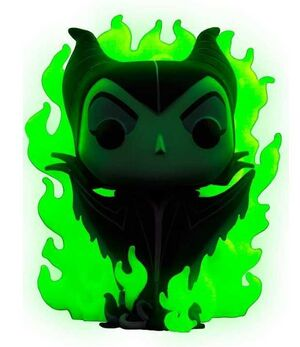 MALEFICA FIG 9 CM MALEFICENT GREEN FLAME VINYL POP CHASE EDITION