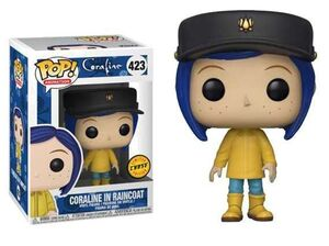 CORALINE FIG 9CM POP CORALINE IN RAINCOAT (CHASE)