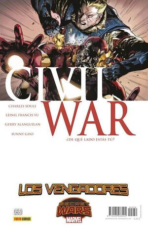 LOS VENGADORES VOL 4 #59 CIVIL WAR 1 Y 2