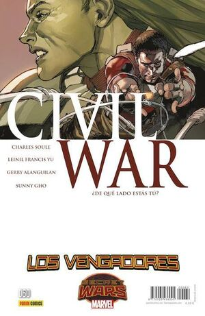 LOS VENGADORES VOL 4 #60 CIVIL WAR 3 A 5