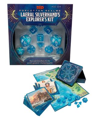 DUNGEONS & DRAGONS FORGOTTEN REALMS LAERAL SILVERHAND'S EXPLORER KIT
