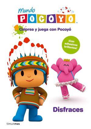 COLOREA Y JUEGA CON POCOYO: DISFRACES. LIBRO CON ADHESIVOS DE PURPURINA