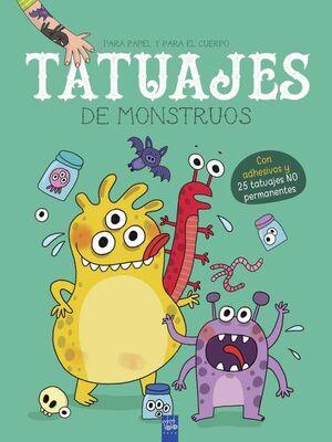 TATUAJES DE MONSTRUOS. PARA PAPEL Y PARA EL CUERPO