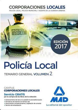POLICIA LOCAL: TEMARIO GENERAL VOL. 2