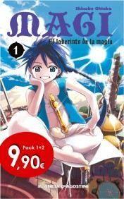 MAGI EL LABERINTO DE LA MAGIA #01 PACK ESPECIAL + #02