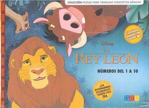EL REY LEON: NUMEROS DEL 1 AL 10