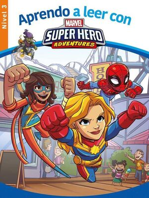 APRENDE A LEER CON... SUPERHERO ADVENTURES NIVEL 3 MARVEL