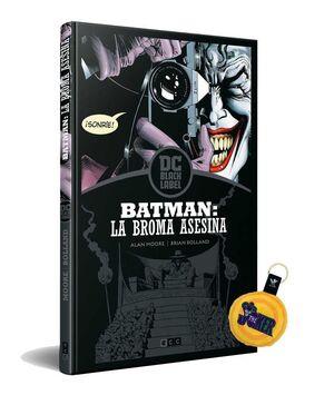 PACK BATMAN: LA BROMA ASESINA (BLACK LABEL)+LLAVERO PELUCHE LOGO JOKER 6 CM
