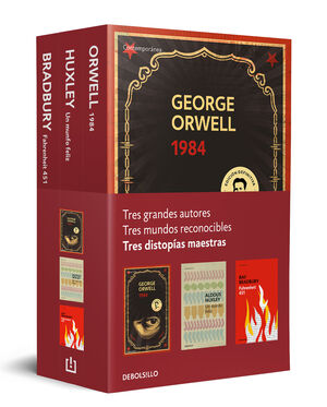 DISTOPÍAS MAESTRAS (PACK CON: 1984 DE ORWELL  UN MUNDO FELIZ DE HUXLEY  FAHREN