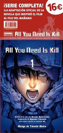 PACK ALL YOU NEED IS KILL: EL MANGA