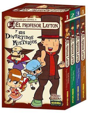 EL PROFESOR LAYTON Y SUS DIVERTIDOS MISTERIOS - PACK