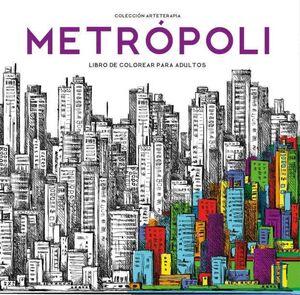 METROPOLI. LIBRO DE COLOREAR PARA ADULTOS