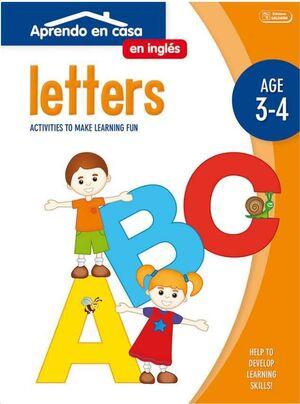 APRENDO EN CASA INGLES (3-4 AÑOS) LETTERS