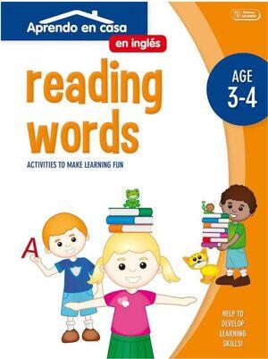 APRENDO EN CASA INGLES (3-4 AÑOS) READING WORDS