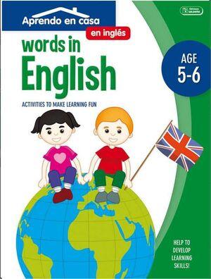 APRENDO EN CASA INGLES (5-6 AÑOS) WORDS IN ENGLISH