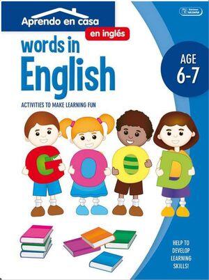 APRENDO EN CASA INGLES (6-7 AÑOS) WORDS IN ENGLISH