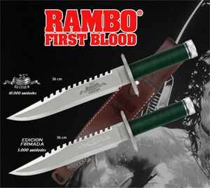 RAMBO CUCHILLO FIRST BLOOD RAMBO I EDICION FIRMADA