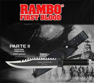 RAMBO CUCHILLO FIRST BLOOD RAMBO II EDICION FIRMADA