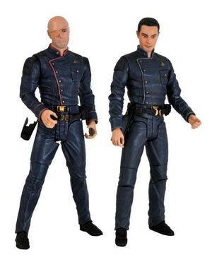 BATTLESTAR GALACTICA ACTION FIGURE 2 PACK - TIGH AND GAETA
