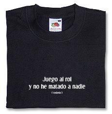 CAMISETA RF JUEGO AL ROL S-NEGRA