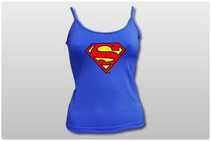 SUPERMAN TOP FINO LOGO M