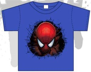 SPIDERMAN CAMISETA NIÑO AZUL ROYAL ASOMANDO 10 AÑOS (L)