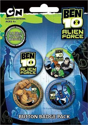 CHAPAS PACK DE 4 - BEN 10 #2