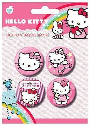CHAPAS PACK DE 4 - HELLO KITTY 4