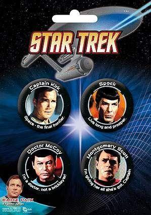 CHAPAS PACK DE 4 - STAR TREK