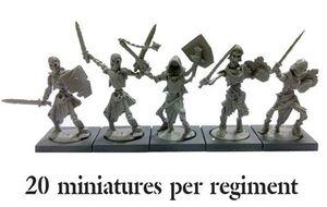 KINGS OF WAR: UNDEAD SKELETON REGIMENT (20)